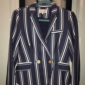 NEW WITH TAGS Striped double-button blazer